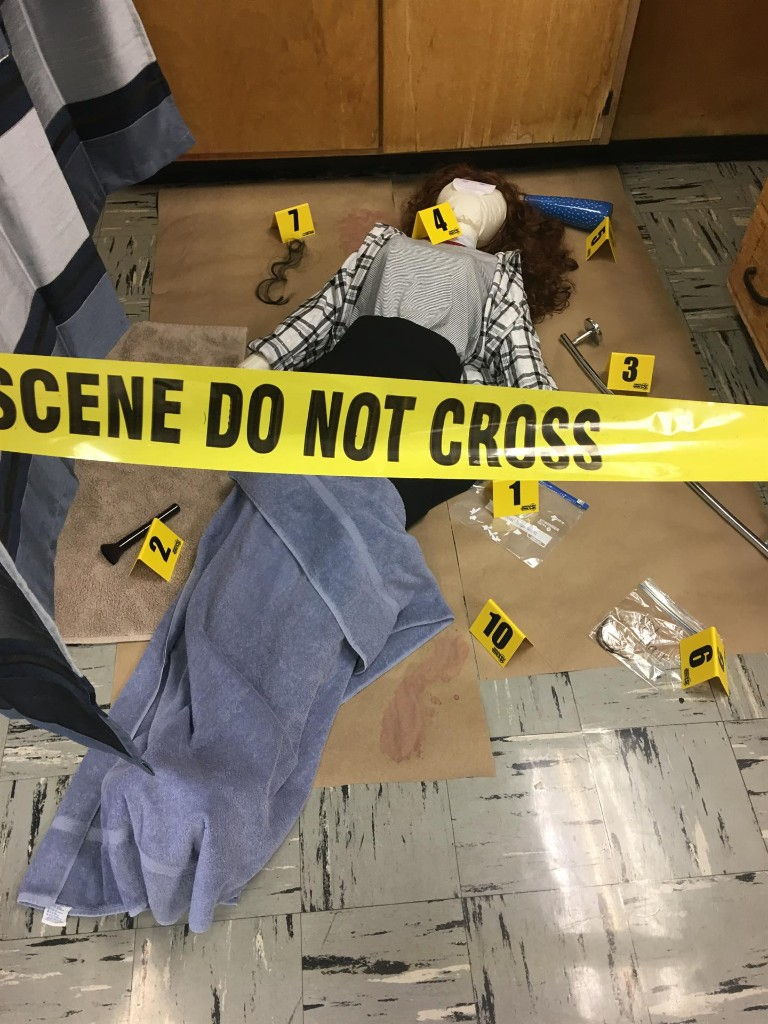 Forensics Class Stages Crime Scenes