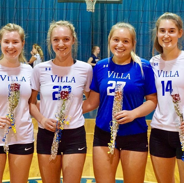 Volleyball Celebrates Seniors